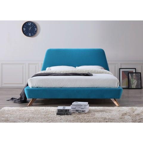 Strick & Bolton Forrest Mid-century Modern Upholstered Queen-size Platform Bed