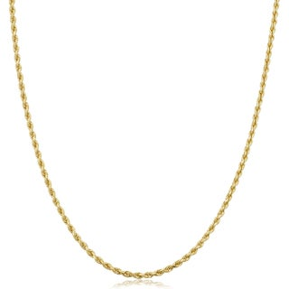 Fremada 14k Yellow Gold 1.7-mm Solid Rope Chain Necklace (14 - 36 inches)