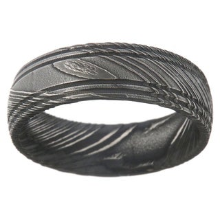 Men's Damascus Steel 7-millimeter Ring
