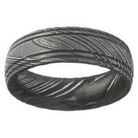 Men's Damascus Steel 7-millimeter Ring