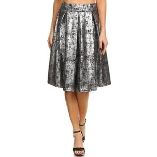 Women's Metallic Abstract Splatter Wash Skirt