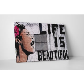 Banksy 'Life is Beautiful' Gallery Wrapped Canvas Wall Art