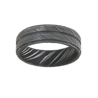 Damascus Steel 7-millimeter Men's Ring