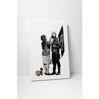 Banksy 'Mother and the Anarchist' Multicolored Gallery-wrapped Canvas Wall Art
