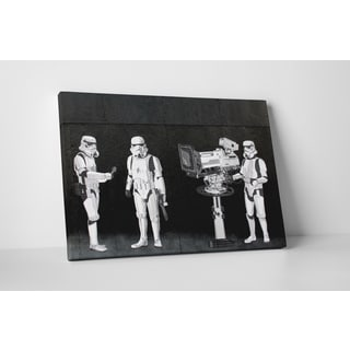 Banksy 'Storm Troopers Filming the Oscars' Gallery Wrapped Canvas Wall Art