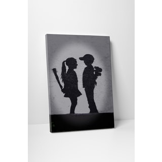 Banksy 'Boy Meets Girl' Gallery-wrapped Canvas Wall Art