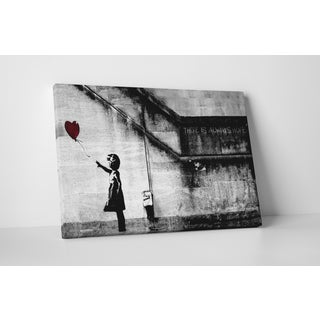 Banksy 'Girl With Balloon' Gallery-wrapped Canvas Wall Art
