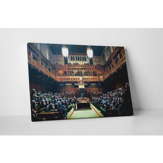 Banksy 'Monkey Parliament' Gallery-wrapped Canvas Wall Art