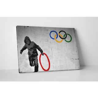 Banksy 'Olympic Rings' Gallery-wrapped Canvas Wall Art