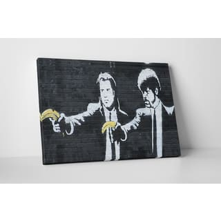 Banksy 'Pulp Fiction' Gallery Wrapped Canvas Wall Art