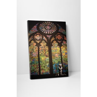 Banksy 'Street Art Cathedral' Gallery-wrapped Canvas Wall Art