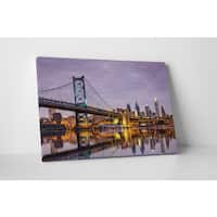 City Skylines 'Benjamin Franklin Bridge Philadelphia' Gallery-wrapped Canvas Wall Art