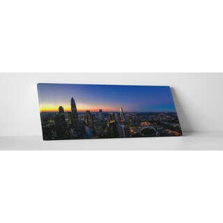 City Skylines 'Charlotte Dusk' Gallery-wrapped Canvas Wall Art