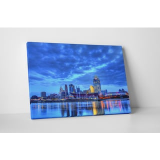 City Skylines 'Cincinnati Ohio' Gallery Wrapped Canvas Wall Art