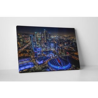 City Skylines 'Los Angeles Downtown' Gallery-wrapped Canvas Wall Art