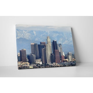 City Skylines 'Los Angeles Mountains' Gallery-wrapped Canvas Wall Art