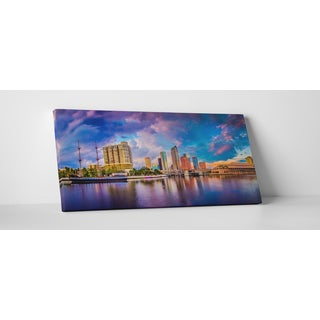 City Skylines 'Tampa Bay Florida' Gallery Wrapped Canvas Wall Art