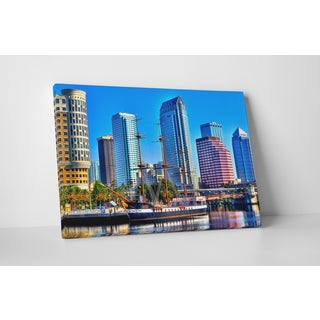 City Skylines 'Tampa Bay Waterfront' Gallery-wrapped Canvas Wall Art