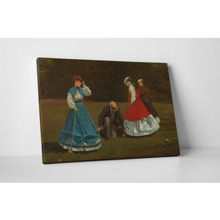 Classic Masters Winslow Homer 'Croquet Scene' Gallery-wrapped Canvas Wall Art