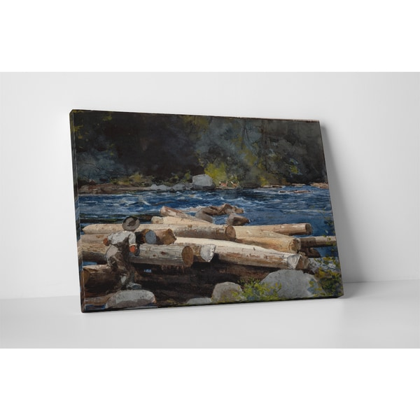 Classic Masters Winslow Homer 'Hudson River' Gallery Wrapped Canvas Wall Art
