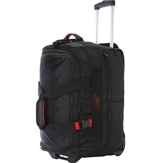 Asaks Black Ballistic Nylon 20-inch Expandable Carry-on Rolling Duffel Bag