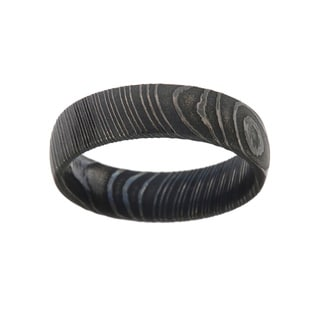 Damascus Steel 6-millimeter Men's Ring