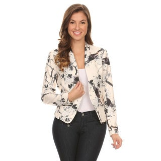 Women's Floral Blazer Jacket (Option: S)