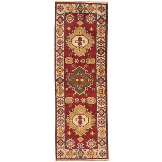Herat Oriental Indo Hand-knotted Tribal Kazak Wool Rug (2'2 x 6'5)