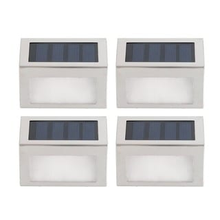 Auto Turn-on Outdoor Stainless Steel Solar LED Light (Pack of 4)