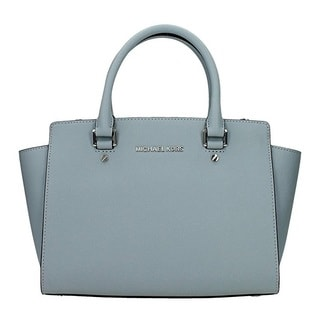 Michael Kors Selma Medium Dust Blue Satchel Handbag