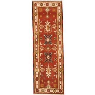 Herat Oriental Indo Hand-knotted Tribal Kazak Wool Rug (2'2 x 6'7)
