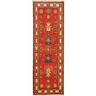 Herat Oriental Indo Hand-knotted Tribal Kazak Wool Rug (2'2 X 6'4)