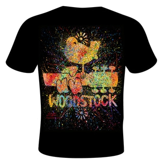 Stephen Fishwick 'Woodstock' Black Cotton T-shirt