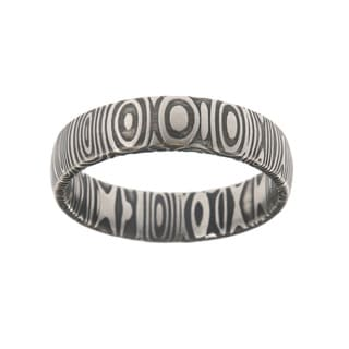 Men's Damascus Steel 6-millimeter Ring