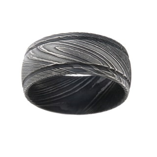 Men's Damascus Steel 10-millimeter Ring