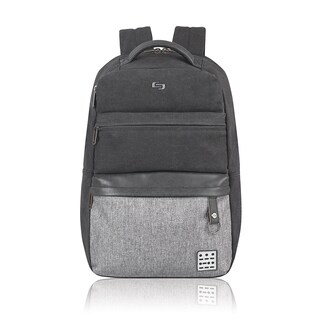 Solo Urban Code Black and Grey Polyester 15.6-inch Laptop Backpack