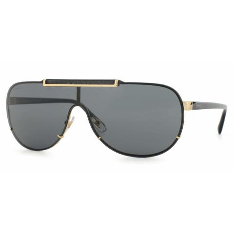 Versace Mens VE2140 100287 Gold Metal Cateye Sunglasses