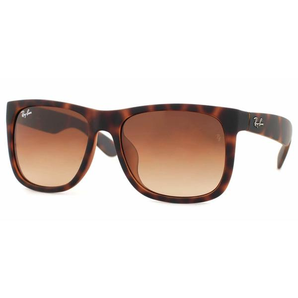 7b3aa9436a1d4 Ray Ban Mens RB4165F JUSTIN 856 13 Havana Plastic Rectangle Sunglasses -  Brown