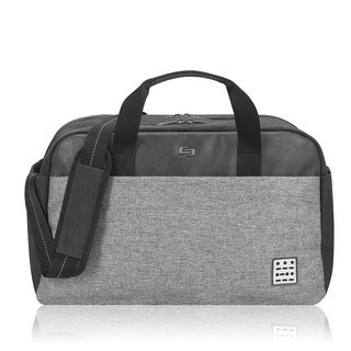 Solo Urban Code Black and Grey Polyester 17.3-inch Laptop Duffel Bag