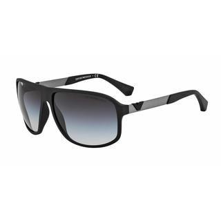 Emporio Armani Mens EA4029 50638G Black Plastic Square Sunglasses