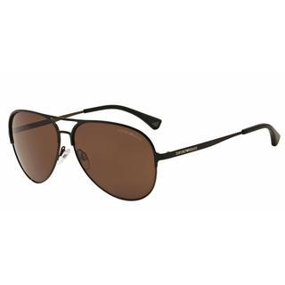 Emporio Armani Mens EA2032 312773 Black Metal Cateye Sunglasses