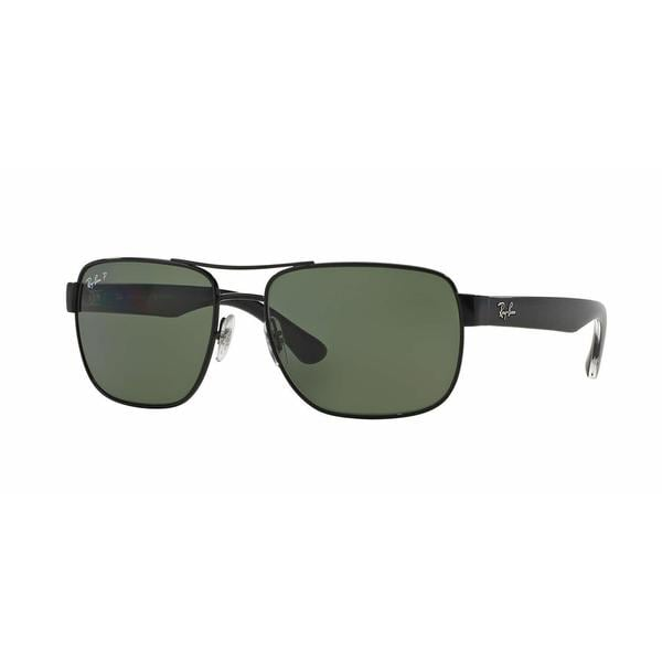 24968dc6a0 Shop Ray Ban Mens RB3530 002 9A Black Metal Square Sunglasses ...