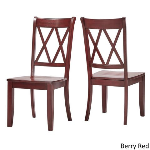 Eleanor Double X Back Wood Dining Chair Set Of 2 By Inspire Q Clic