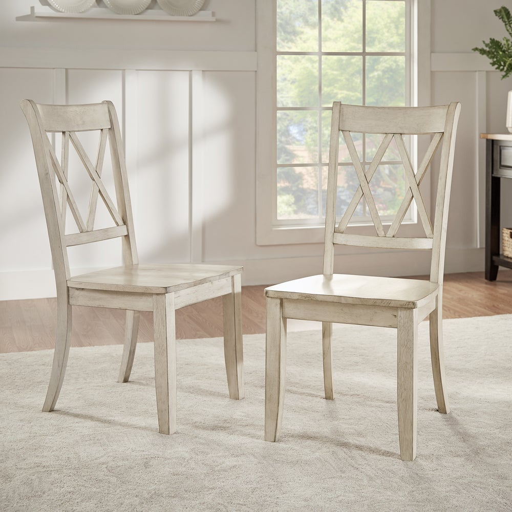 Shop Eleanor Double X Back Wood Dining Chair Set Of 2 By Inspire Q Classic On Sale Overstock 13469140