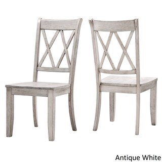 Eleanor Double X Back Wood Dining Chair (Set of 2) by iNSPIRE Q Classic