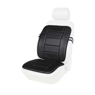 Black or Beige Faux Leather Full Seat Cushion (Option: Black)
