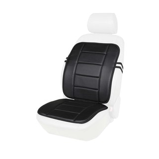 Black or Beige Faux Leather Full Seat Cushion