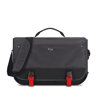 Solo Pro Aegis Black Polyester 15.6-inch Laptop Messenger Bag With RFID Pocket