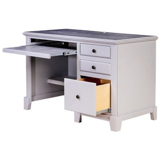 Forest Designs Shaker Wood Desk with Keyboard Pullout