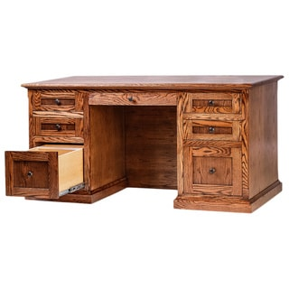 Forest Designs Mission Executive Double Pedestal Desk